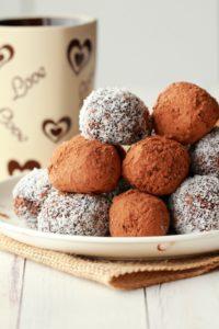 შოკოლადის კანფეტები ქოქოსით